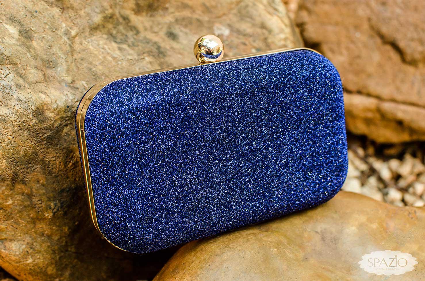 Bolsa De Festa Azul Bic : Bolsa clutch azul royal spazio