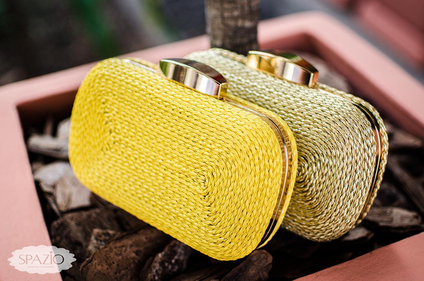 279f1b7aa bolsa festa clutch amarela e dourada